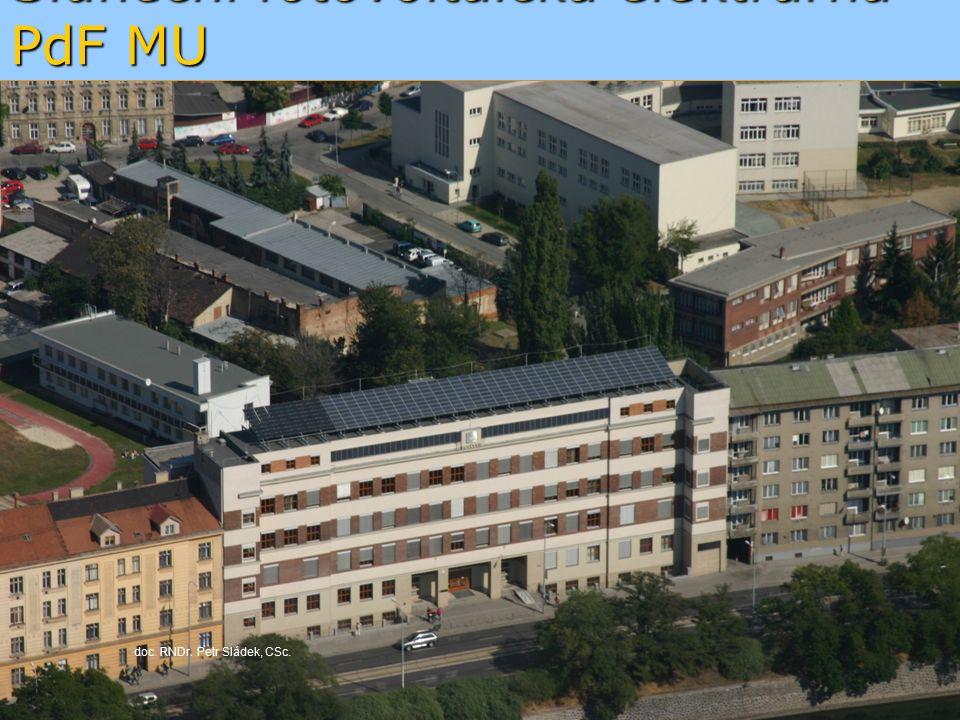 Sluneční fotovoltaická elektrárna PdF MU doc. RNDr. Petr Sládek, CSc.