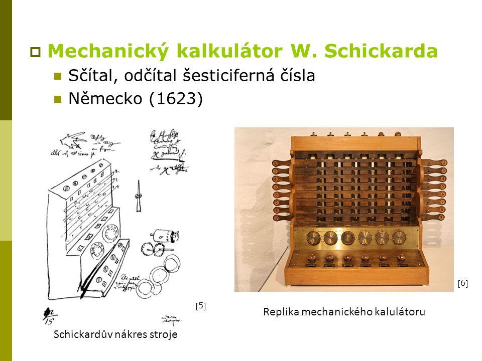  Mechanický kalkulátor W.