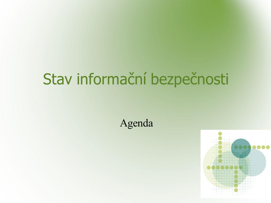 Stav informační bezpečnosti Agenda