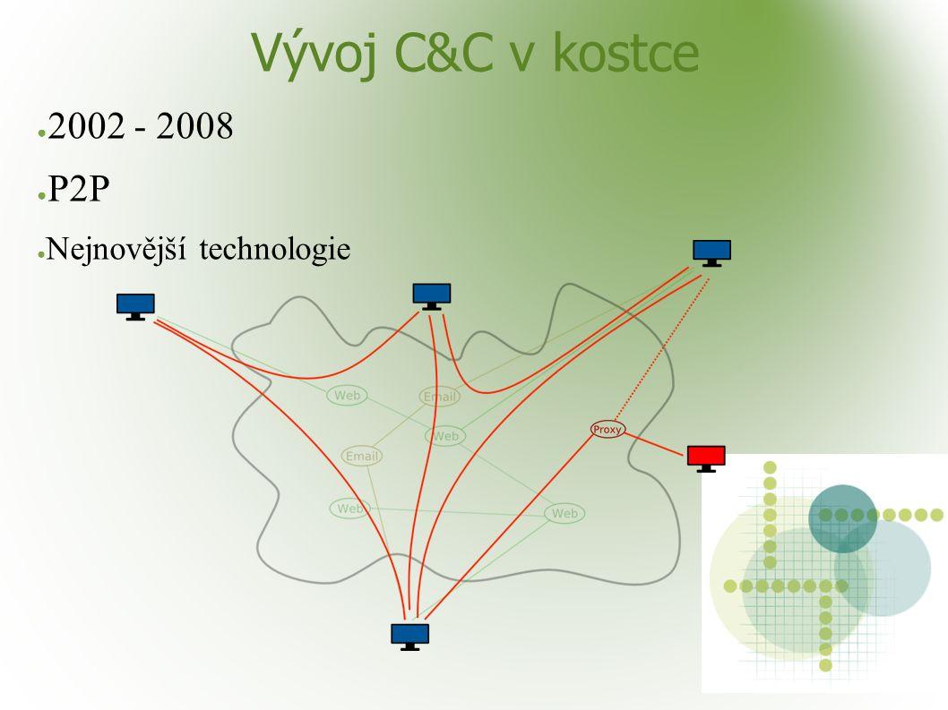 Vývoj C&C v kostce ● 2002 - 2008 ● P2P ● Nejnovější technologie