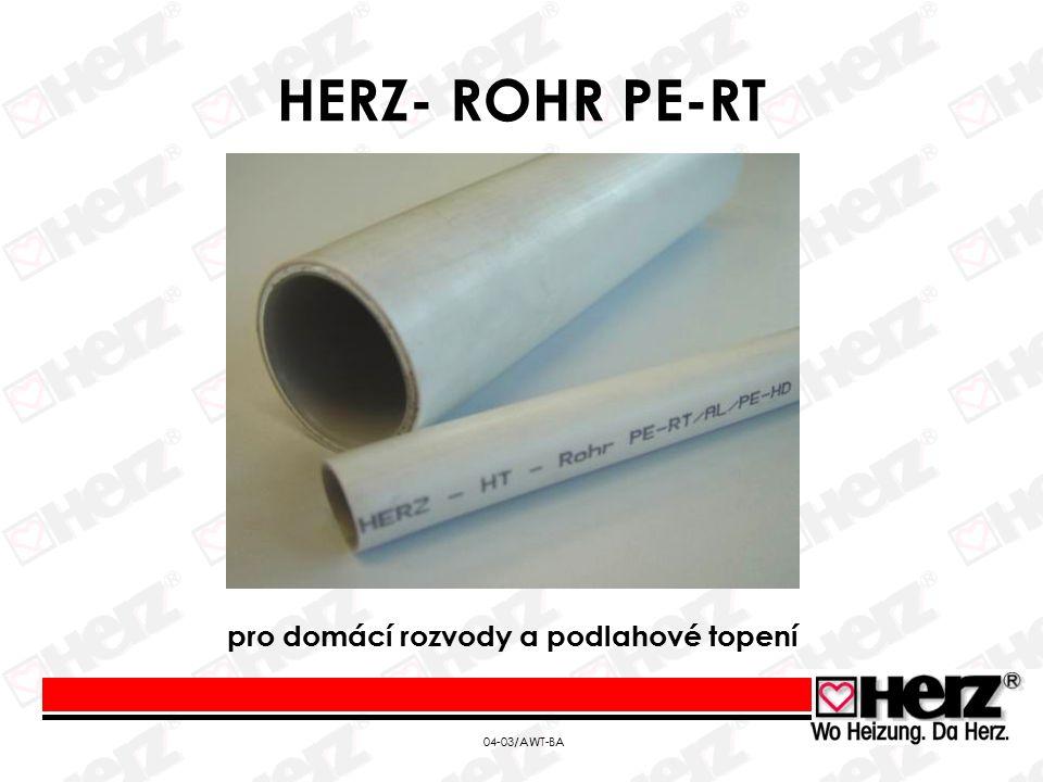 04-03/AWT-BA HERZ- ROHR PE-RT pro domácí rozvody a podlahové topení