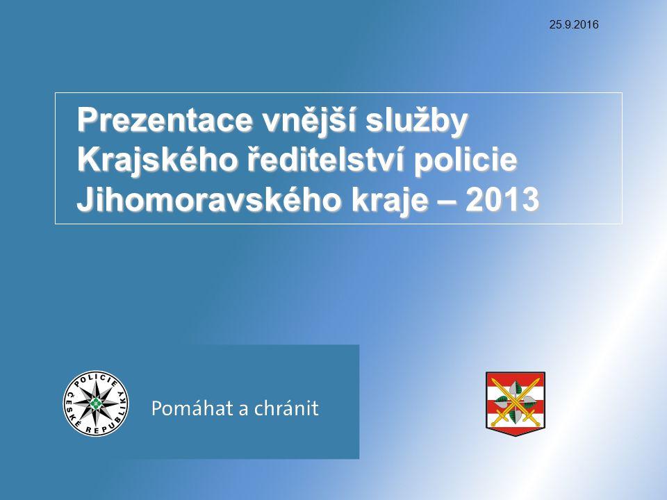 25.9.2016 Prezentace vnější služby Krajského ředitelství policie Jihomoravského kraje – 2013