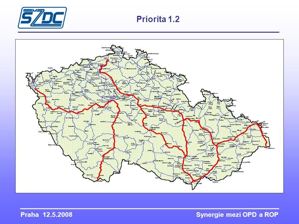 Praha 12.5.2008 Synergie mezi OPD a ROP Priorita 1.2