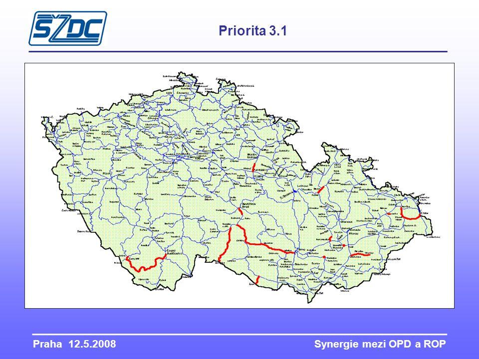 Praha 12.5.2008 Synergie mezi OPD a ROP Priorita 3.1