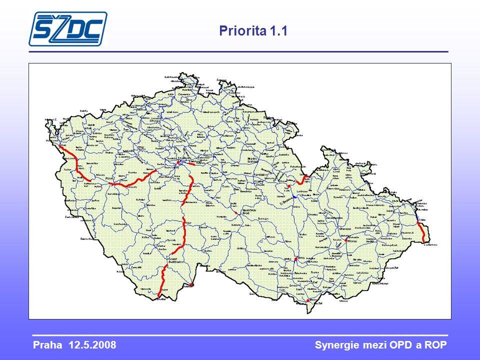 Praha 12.5.2008 Synergie mezi OPD a ROP Priorita 1.1