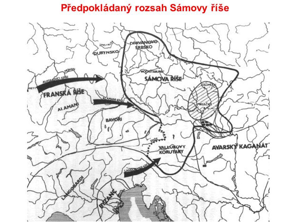 Předpokládaný rozsah Sámovy říše