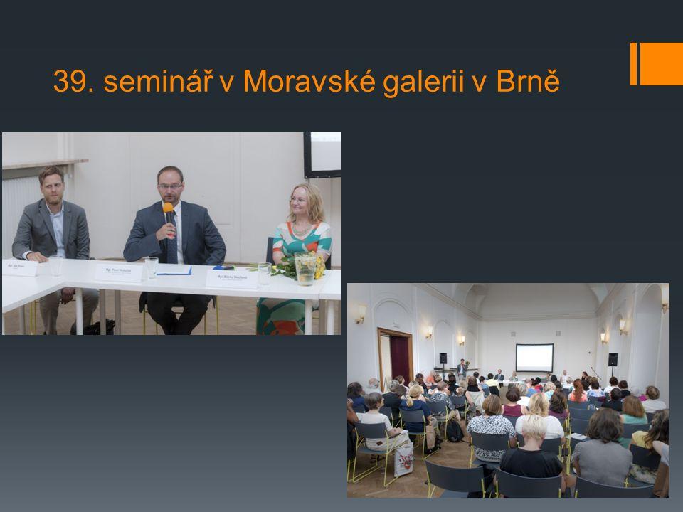 39. seminář v Moravské galerii v Brně