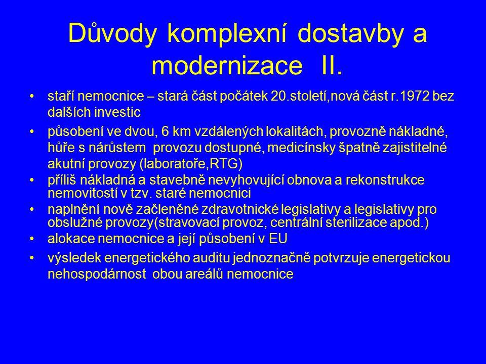 Důvody komplexní dostavby a modernizace II.