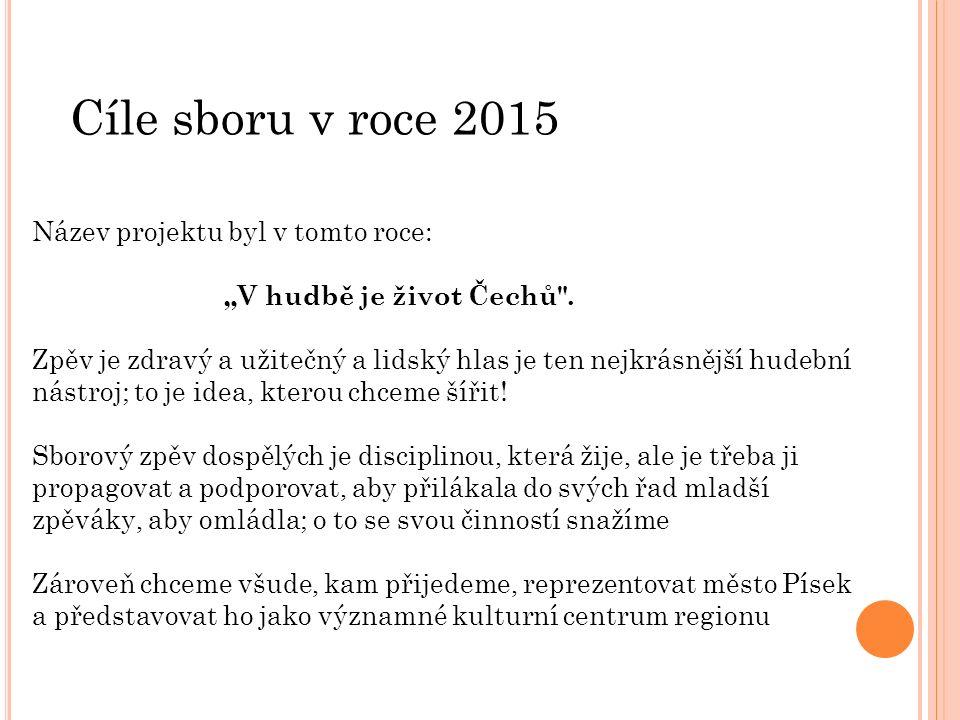 """Název projektu byl v tomto roce: """"V hudbě je život Čechů ."""