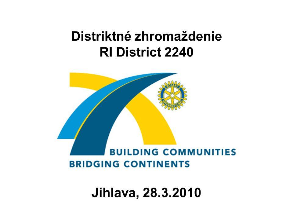 Distriktné zhromaždenie RI District 2240 Jihlava, 28.3.2010
