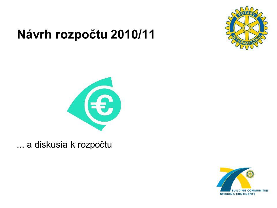 Návrh rozpočtu 2010/11... a diskusia k rozpočtu