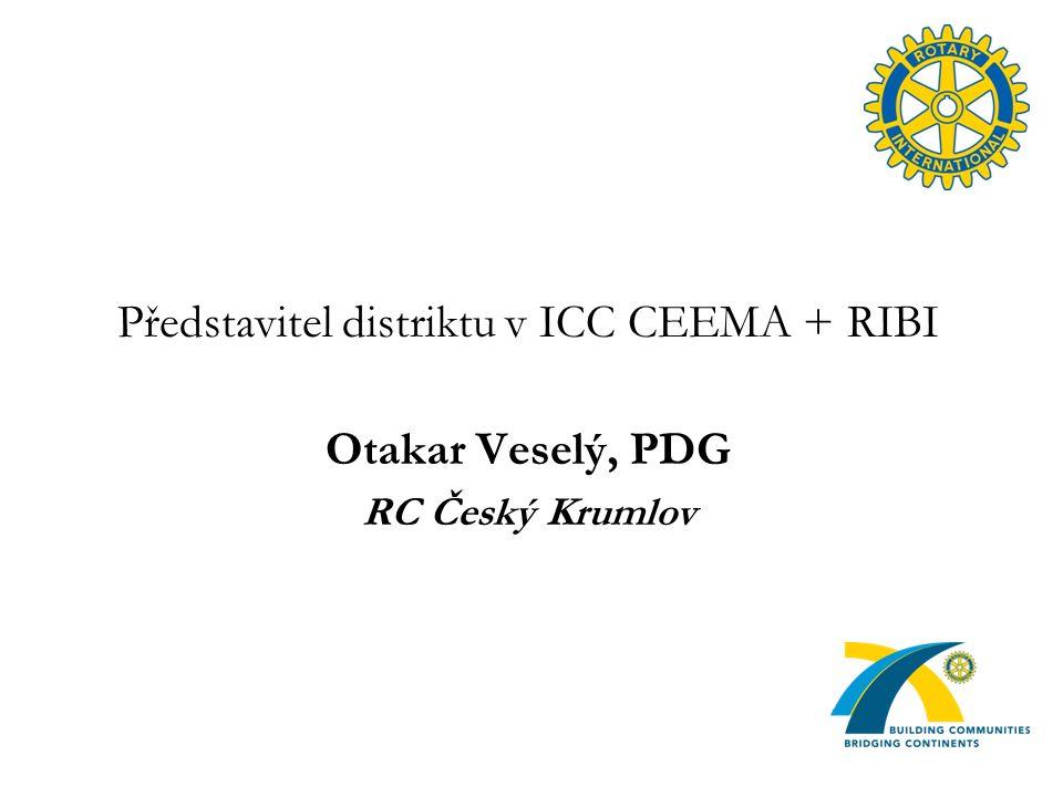 Představitel distriktu v ICC CEEMA + RIBI Otakar Veselý, PDG RC Český Krumlov