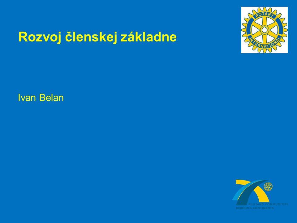 Rozvoj členskej základne Ivan Belan