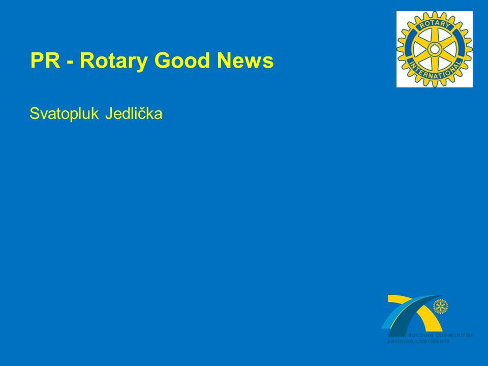 PR - Rotary Good News Svatopluk Jedlička
