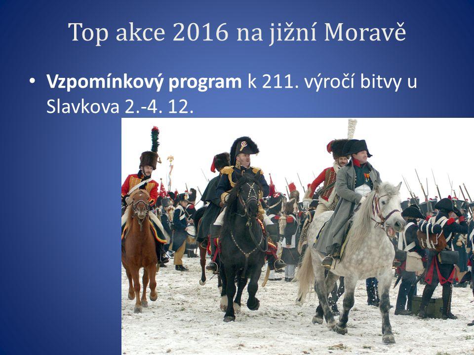 Top akce 2016 na jižní Moravě Vzpomínkový program k 211. výročí bitvy u Slavkova 2.-4. 12.