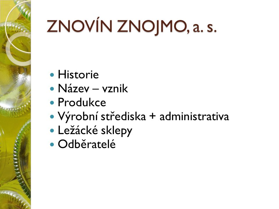 ZNOVÍN ZNOJMO, a. s.