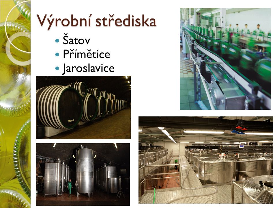 Výrobní střediska Šatov Přímětice Jaroslavice