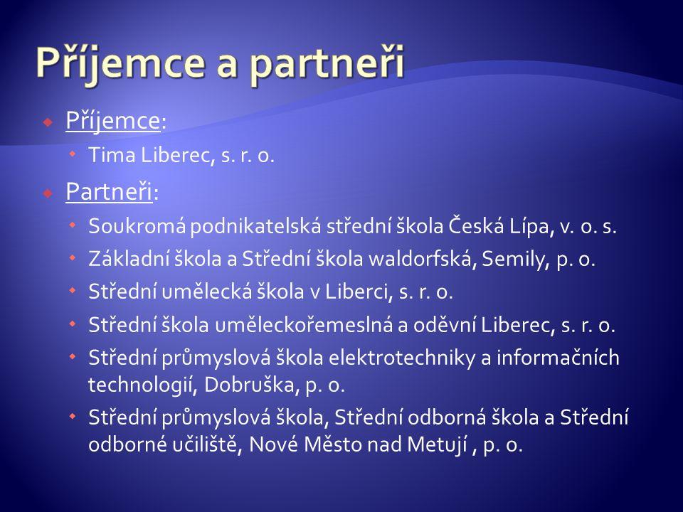  Příjemce:  Tima Liberec, s. r. o.