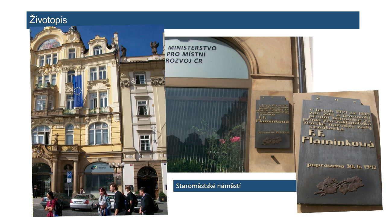 Životopis Staroměstské náměstí