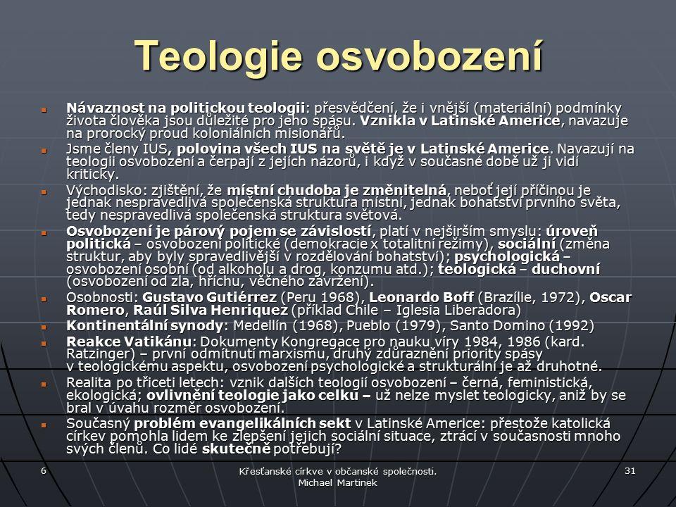 6 Křesťanské církve v občanské společnosti.