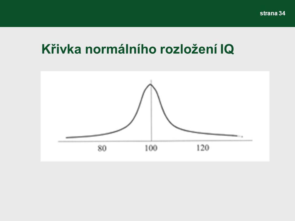 Křivka normálního rozložení IQ strana 34