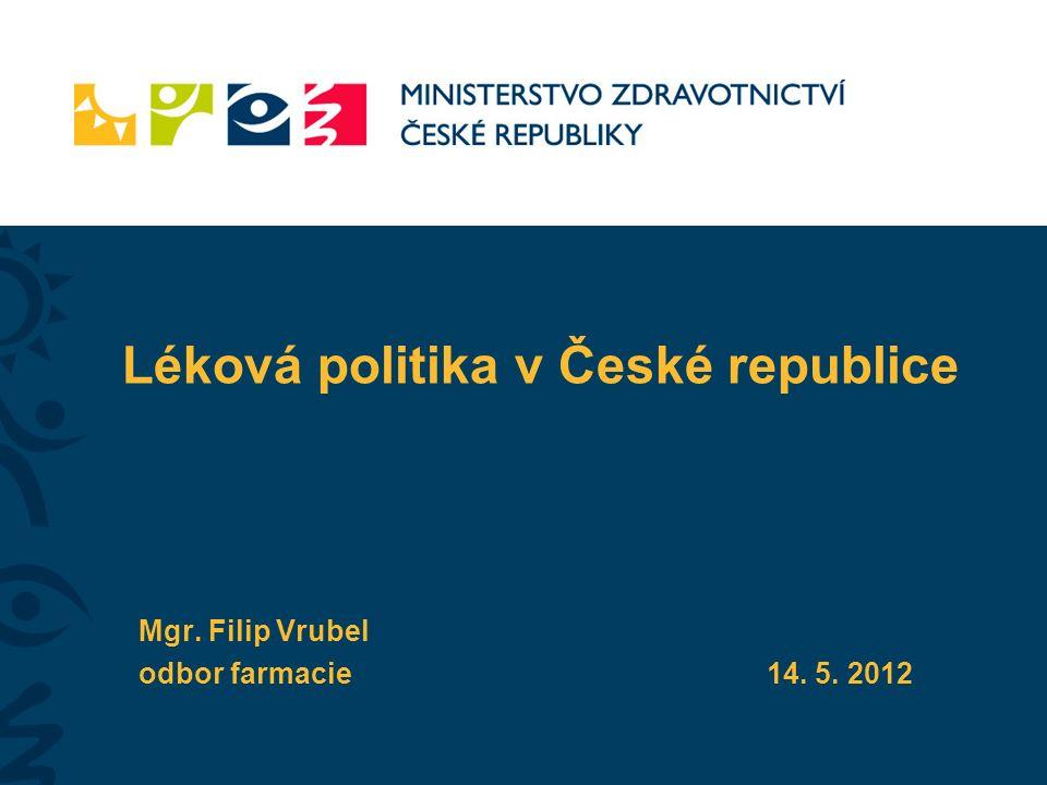 Léková politika v České republice Mgr. Filip Vrubel odbor farmacie14. 5. 2012