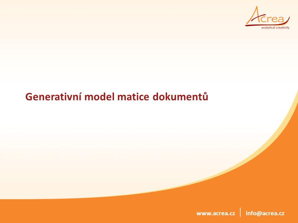 © 2014, ACREA CR spol. s r.o. info@acrea.czwww.acrea.cz Generativní model matice dokumentů
