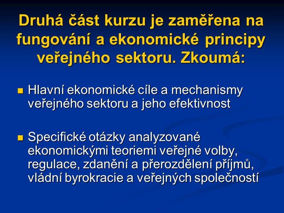 Institucionální ekonomie kolektivního jednání/teorie veřejné volby