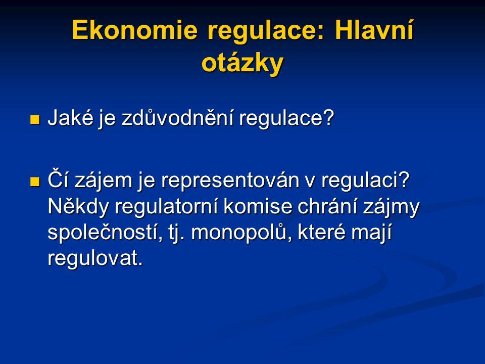 Deregulace 80.let Zatímco ekonomická regulace klesala, sociální regulace přetrvala (prostředí, produkt, bezpečnost práce, rovné pracovní příležitosti, zvýšení minimální mzdy) Zatímco ekonomická regulace klesala, sociální regulace přetrvala (prostředí, produkt, bezpečnost práce, rovné pracovní příležitosti, zvýšení minimální mzdy) Sociální regulace byla podporována zájmovými skupinami a veřejností Sociální regulace byla podporována zájmovými skupinami a veřejností