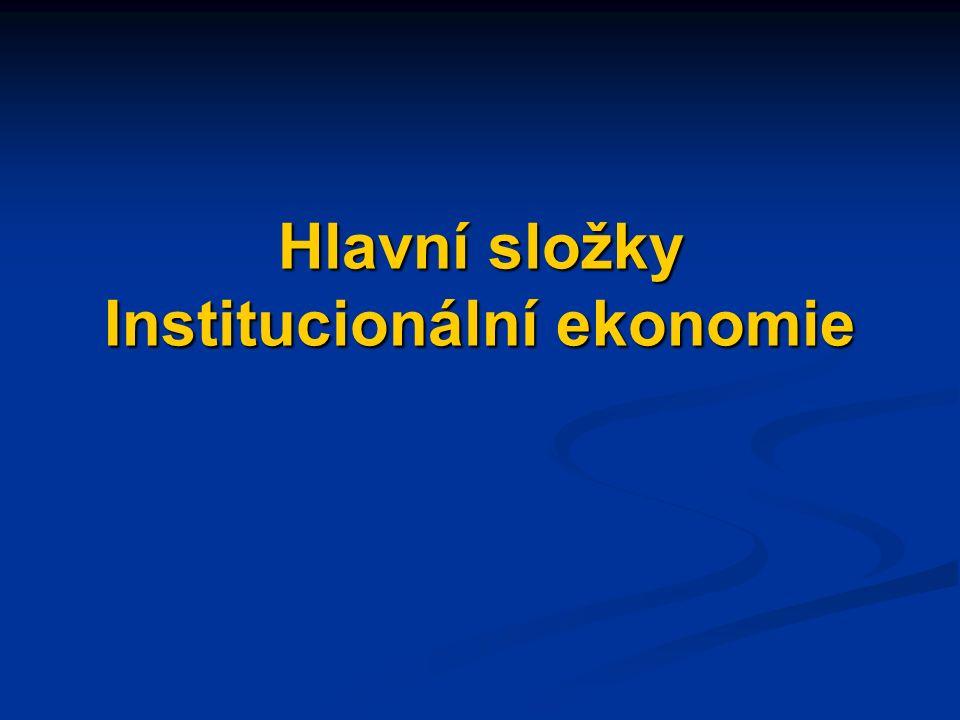 Návrhy témat esejů Analýza/objasnění faktorů usnadňující vývoj efektivních institucí (v konkrétních odvětvích).