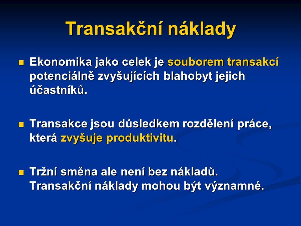 Institucionální ekonomie transakčních nákladů