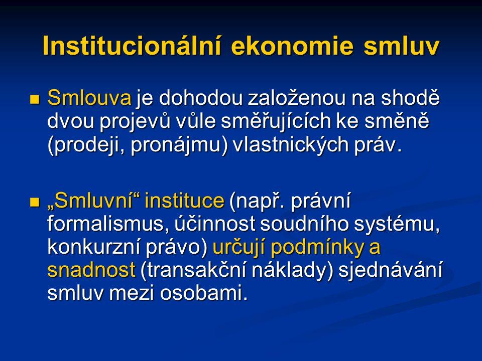 Institucionální ekonomie smluv