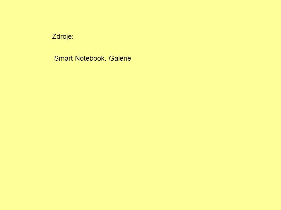 Zdroje: Smart Notebook. Galerie