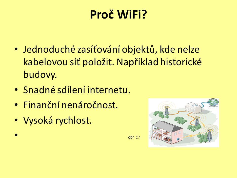 Proč WiFi. Jednoduché zasíťování objektů, kde nelze kabelovou síť položit.