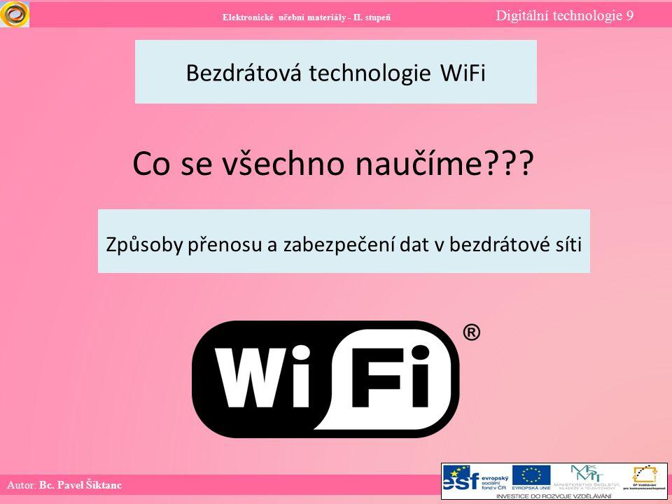 Elektronické učební materiály - II.stupeň Digitální technologie 9 Co už umíme.