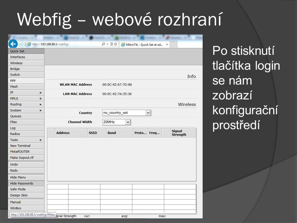 Winbox  Nejpoužívanějším programem pro správu routeru mikrotik je program Winbox  Program winbox má výhodu že nepotřebuje mít v počítači nastavenou ip adresu ze stejného rozsahu jako má router, protože se umí připojit pomocí mac adresy.