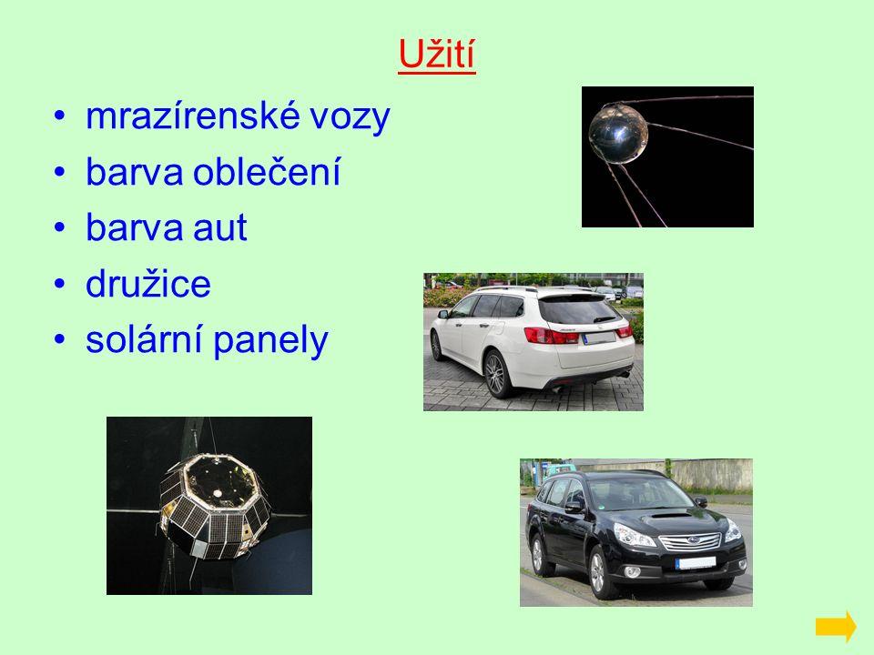 Užití mrazírenské vozy barva oblečení barva aut družice solární panely