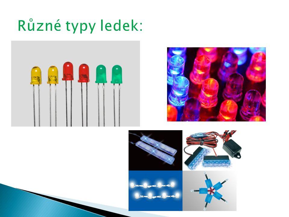 a) Ledka b) Termistor c) Fotodioda