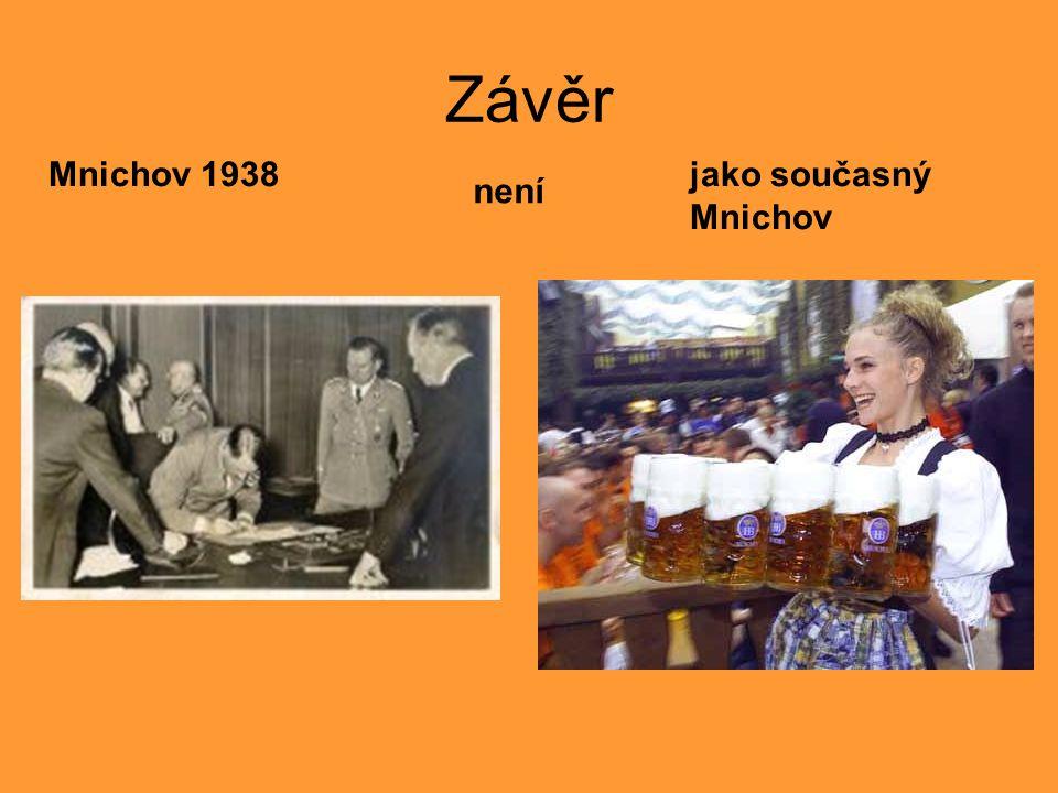 Závěr Mnichov 1938 není jako současný Mnichov