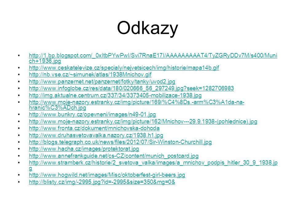 Odkazy http://1.bp.blogspot.com/_0xItbPYwPwI/Svi7RnaE17I/AAAAAAAAAT4/TyZGRyDDv7M/s400/Muni ch+1936.jpghttp://1.bp.blogspot.com/_0xItbPYwPwI/Svi7RnaE17