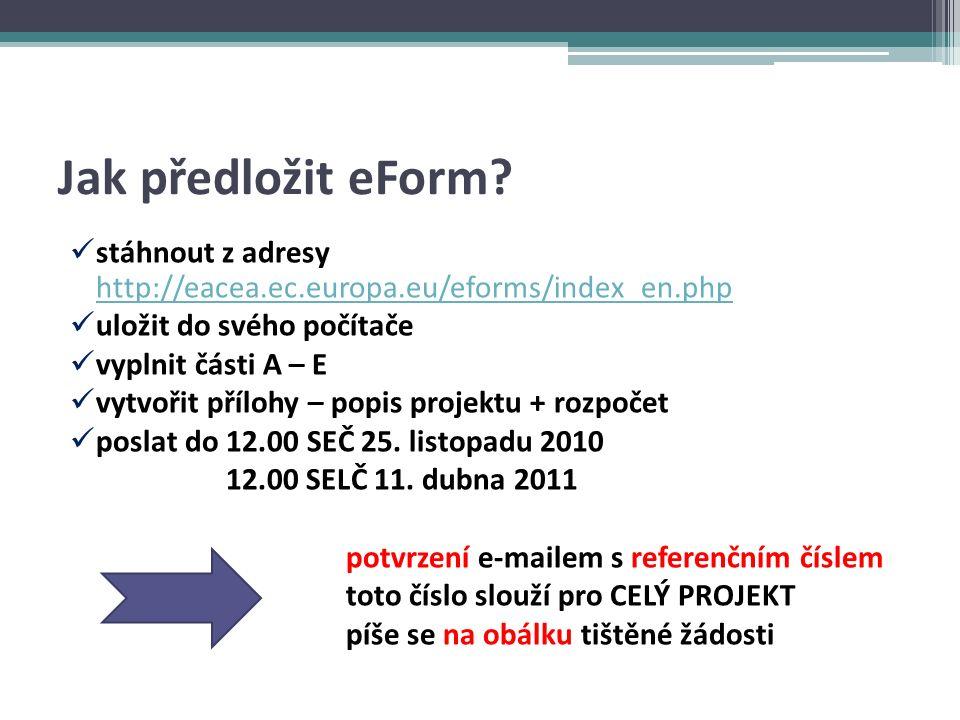 Jak předložit eForm.