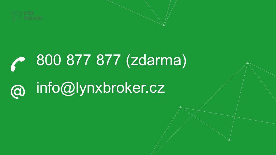800 877 877 (zdarma) info@lynxbroker.cz 800 877 877 (zdarma) info@lynxbroker.cz