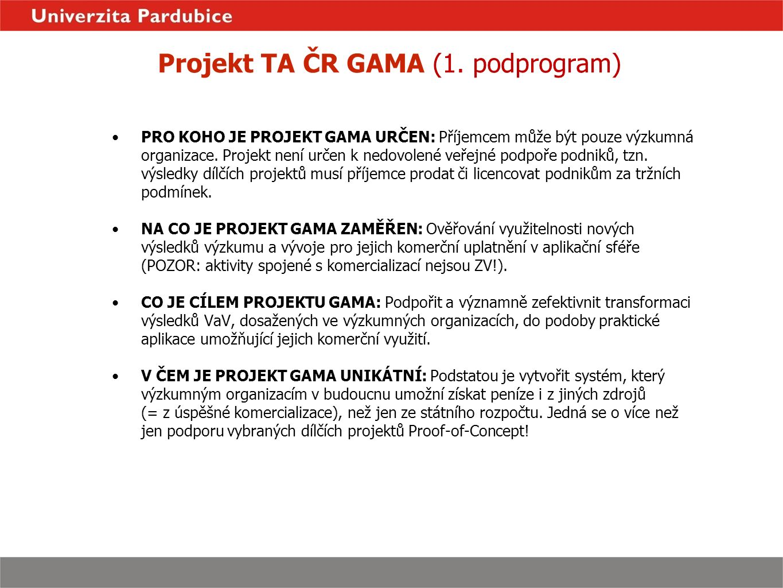 Program GAMA Proof-of-Concept AKTUÁLNĚ -leden 2016 - zpracování analýz plánů komercializace jednotlivých dílčích projektů -únor 2016 - osobní konzultace k plánům komercializace, návštěvy pracovišť řešitelských týmů Podpora procesu komercializace