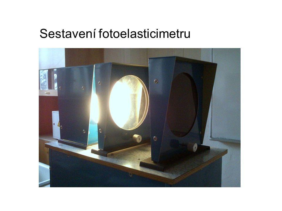 Sestavení fotoelasticimetru