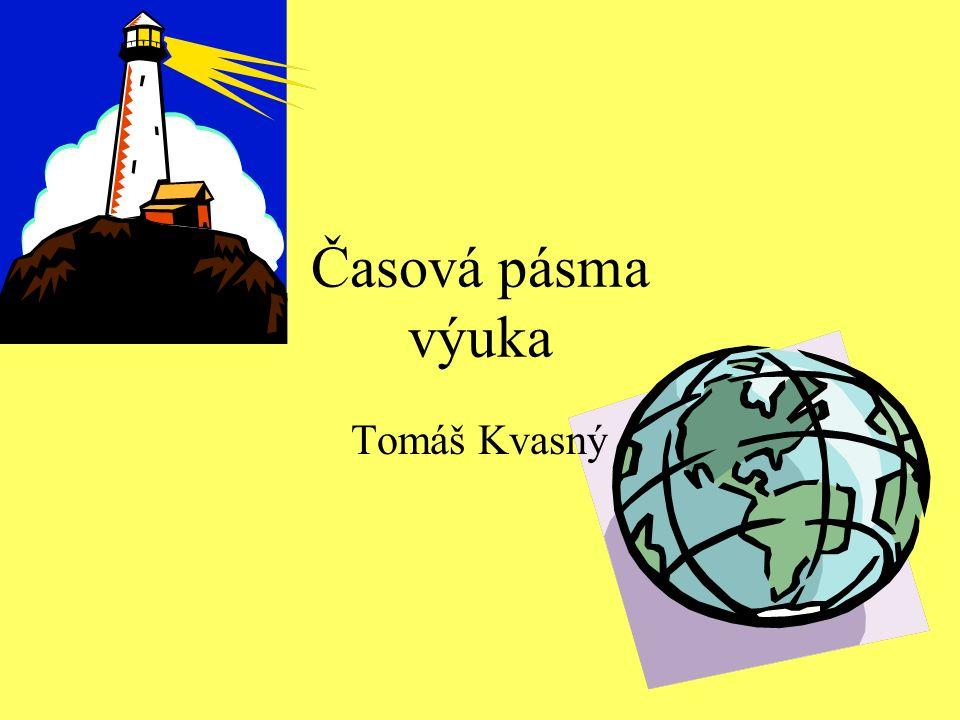 Časová pásma – výuka Tomáš Kvasný Zeměpis listopad 2011 6.ročník Pomocí prezentace přiblížit žákům princip časových pásem a počítání času na Zemi.