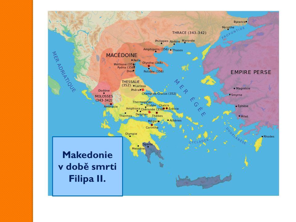 Makedonie v době smrti Filipa II.