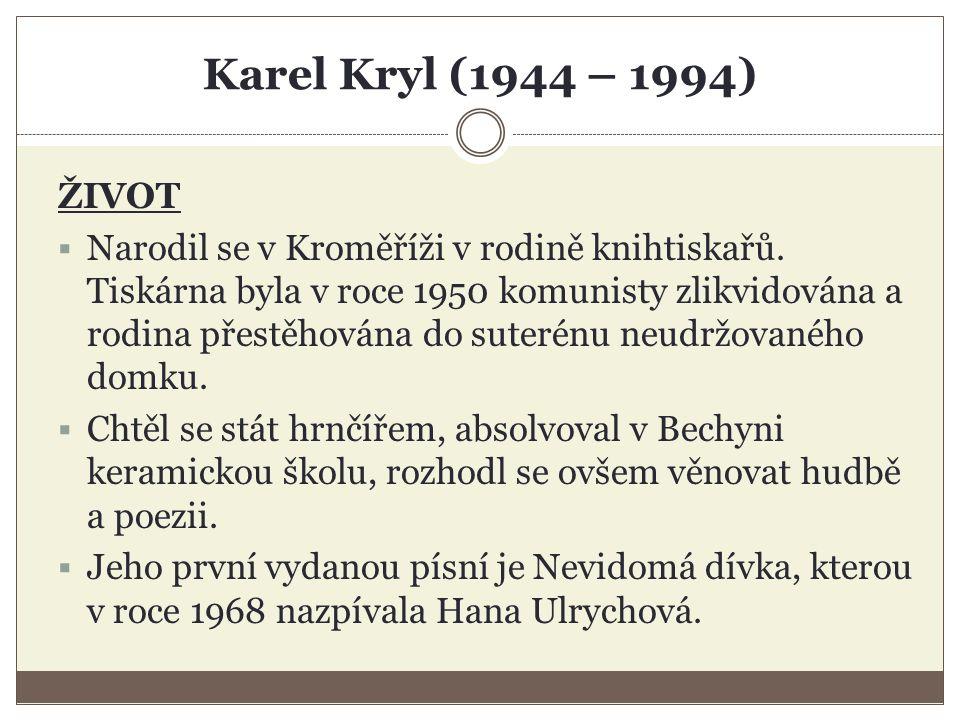 Jaroslav Hutka (1947) TVORBA  Dnes si vydává svou tvorbu sám, sám si i kreslí a tiskne obaly a CD prodává.