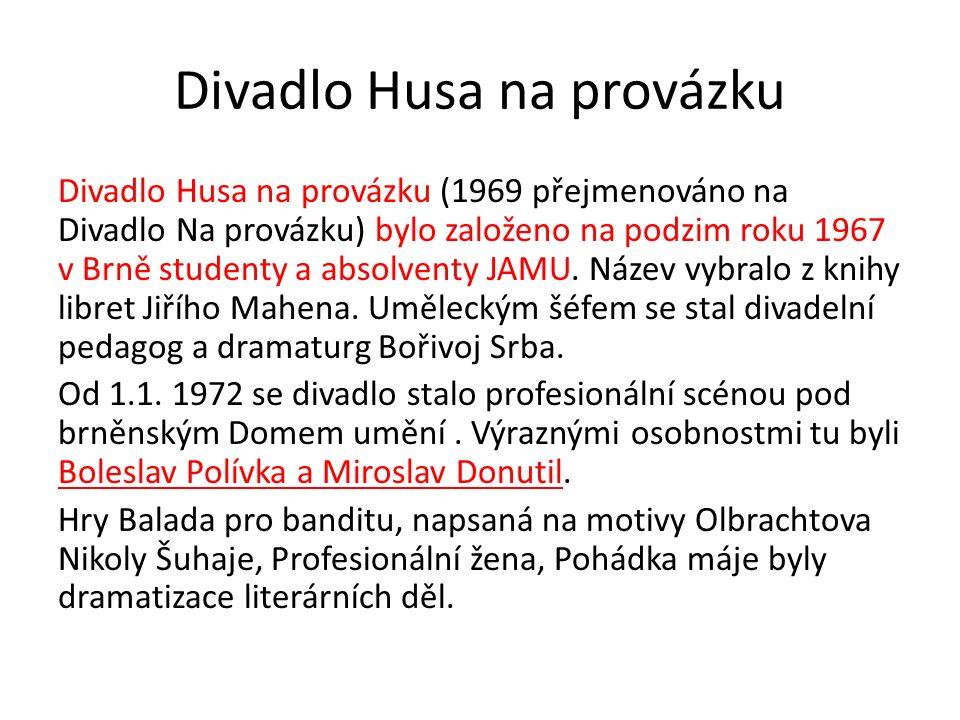 Opakování Jak se dařilo divadlu v 60.letech.