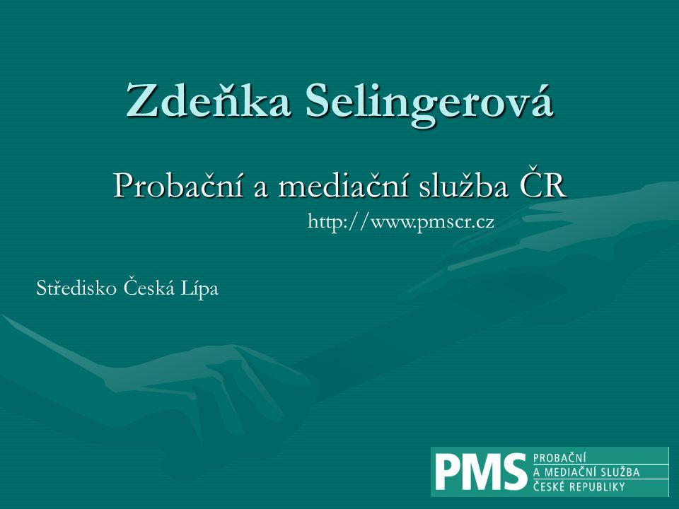 Zdeňka Selingerová Probační a mediační služba ČR Středisko Česká Lípa http://www.pmscr.cz
