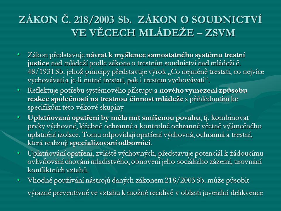 ZÁKON Č.218/2003 Sb.